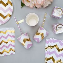 Pattern Works Lilac Chevron Paper Cups (8)